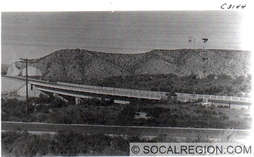 1929 view of the Santa Clara River Bridge.