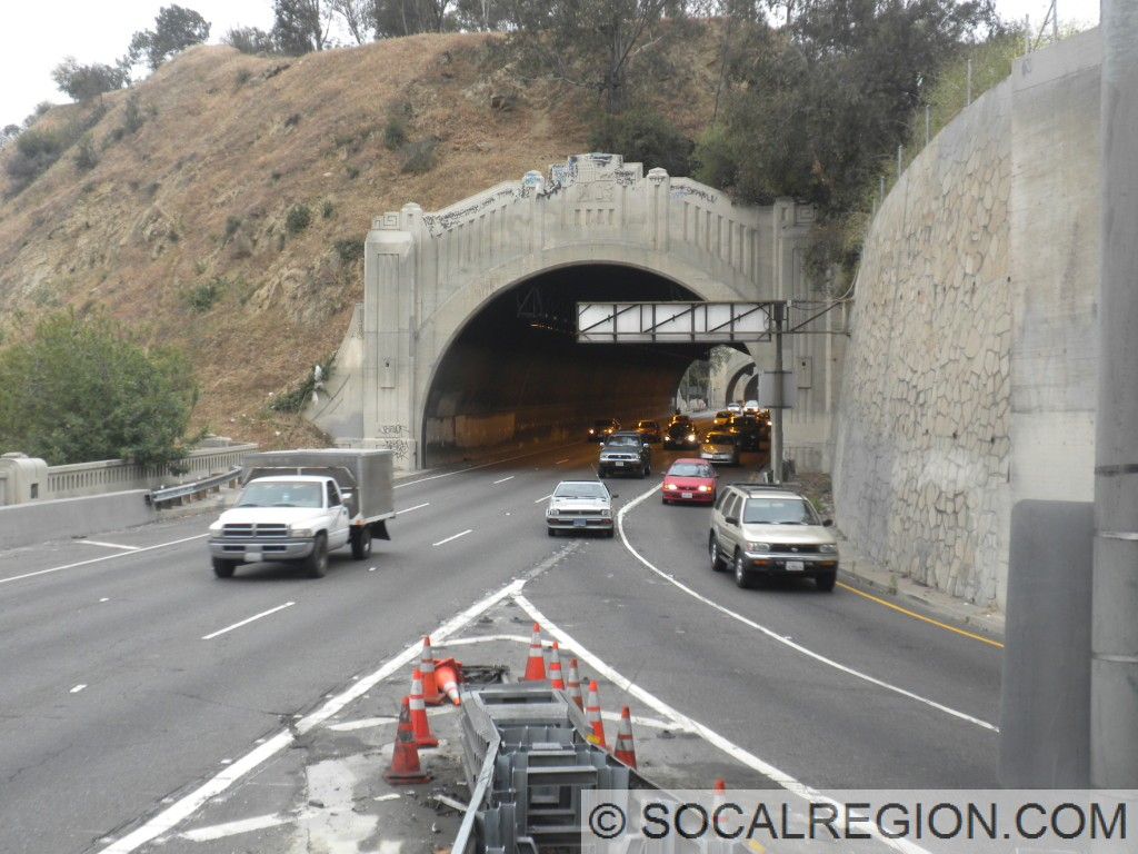 North portal of Tunnel #4 and the 5NB ramp.