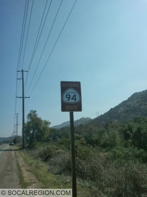 Historic Route 94 signage on Current Hwy 94