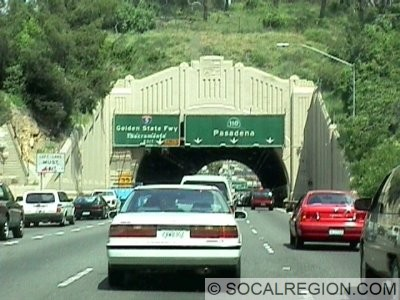 Northernmost tunnel on the northbound side of the freeway. Left exit is for I-5.