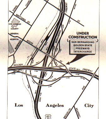 ACSC map from 1959 showing the I-5 / I-10 interchange.