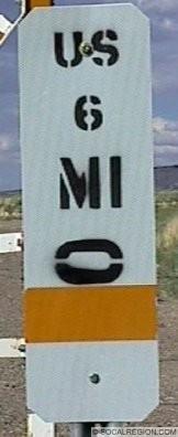 Nevada Milemarker Post.