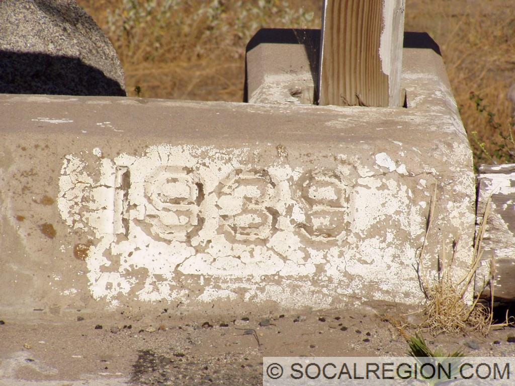 1939 date stamp at the end of the bridge.