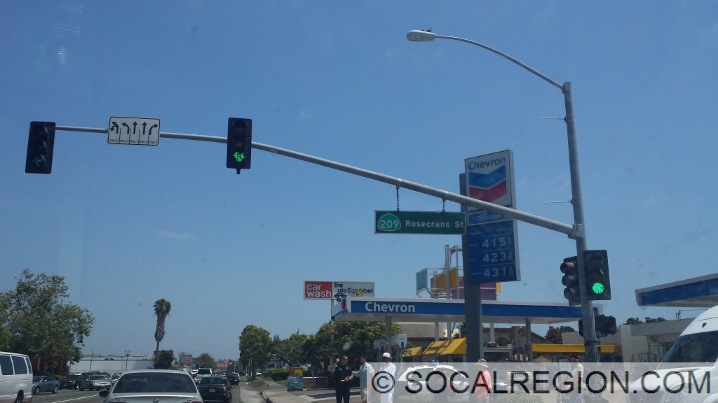 Hwy 209 signage at Midway Dr and Rosecrans St.