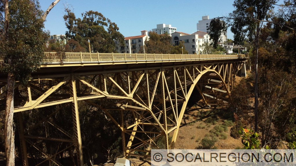 1st Avenue Bridge over Maple Canyon in San Diego, California. Built 1931.