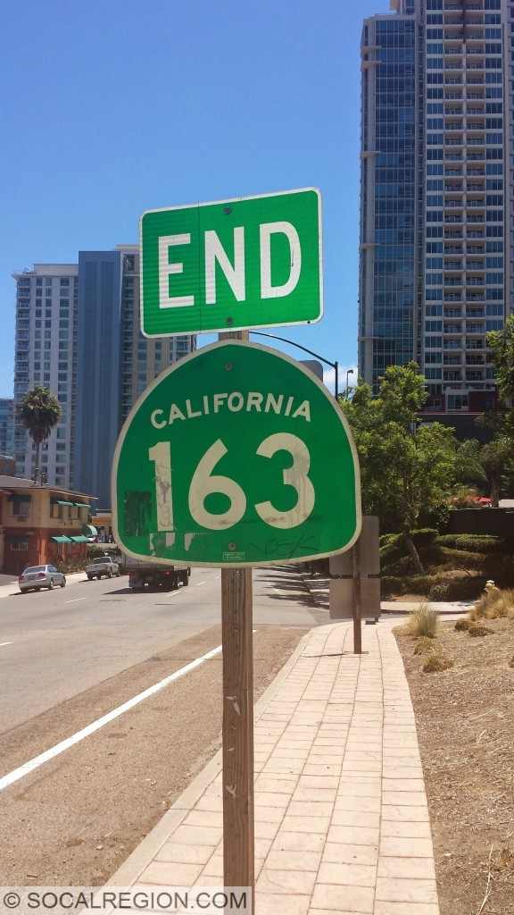 End signage at Ash Street in Downtown San Diego.