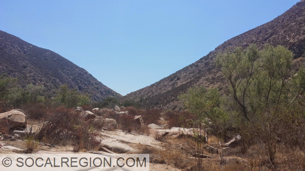 Mission Gorge, cut by the San Diego River