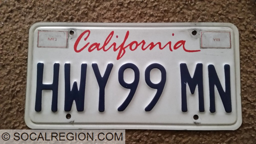My old license plate.