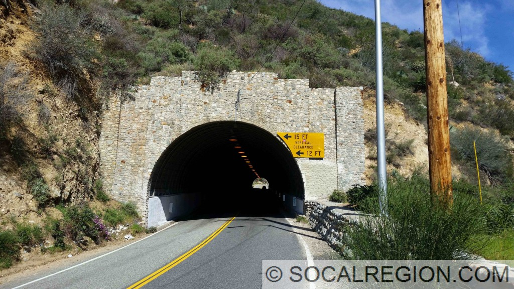 Mt Baldy Road, Lower Tunnel. Built in 1949.