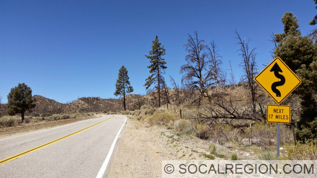 Eastern end of the badlands section of Lockwood Valley Road.