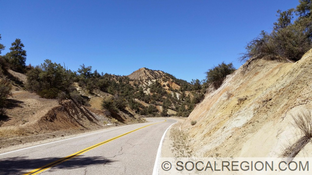 One of the summits along Lockwood Valley Road in the Badlands.