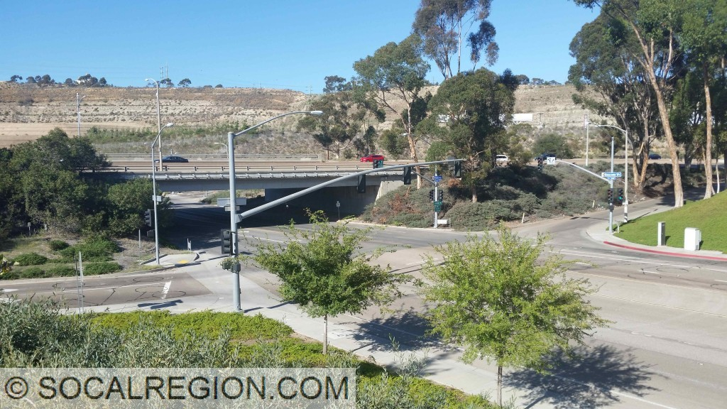 Friars Road interchange with Qualcomm Way