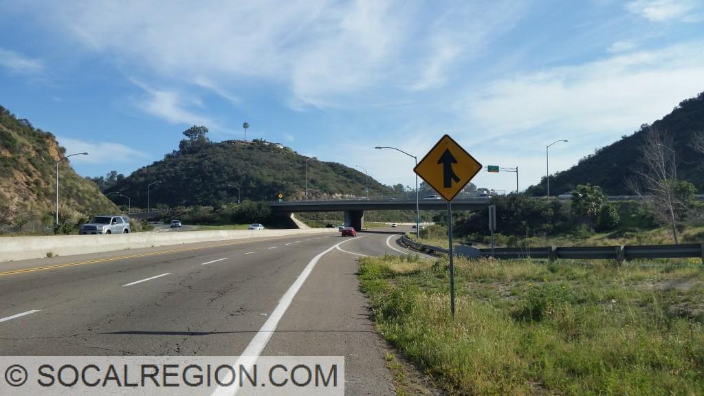 Montezuma Road Interchange, looking southerly.