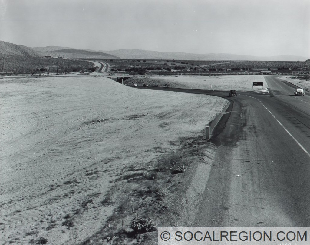 1953 view of the I-10 / State 111 junction (then US 60/70/99 and State 111). Current interchange is to the north of this location.