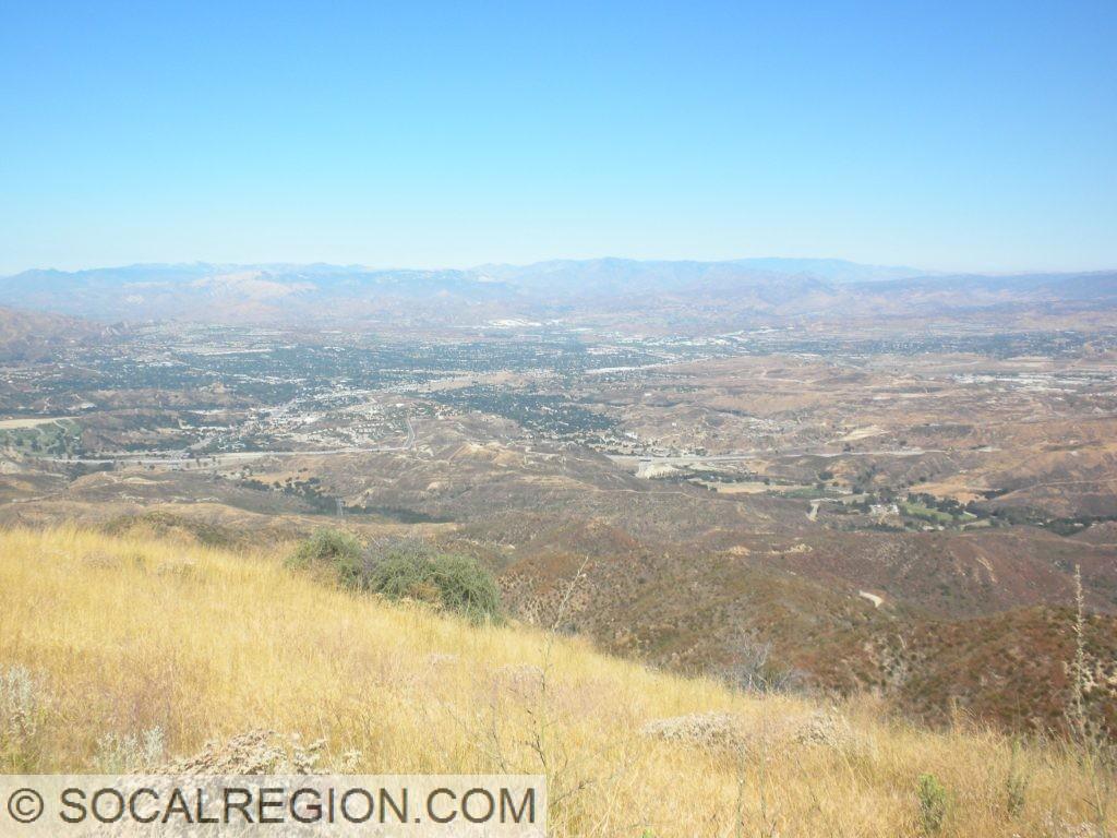 Santa Clarita Valley from Los Pinetos Mountain, looking northwest.