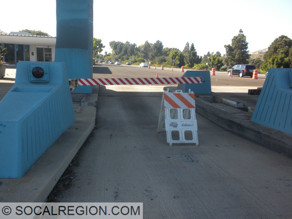 Former toll gate still in place.