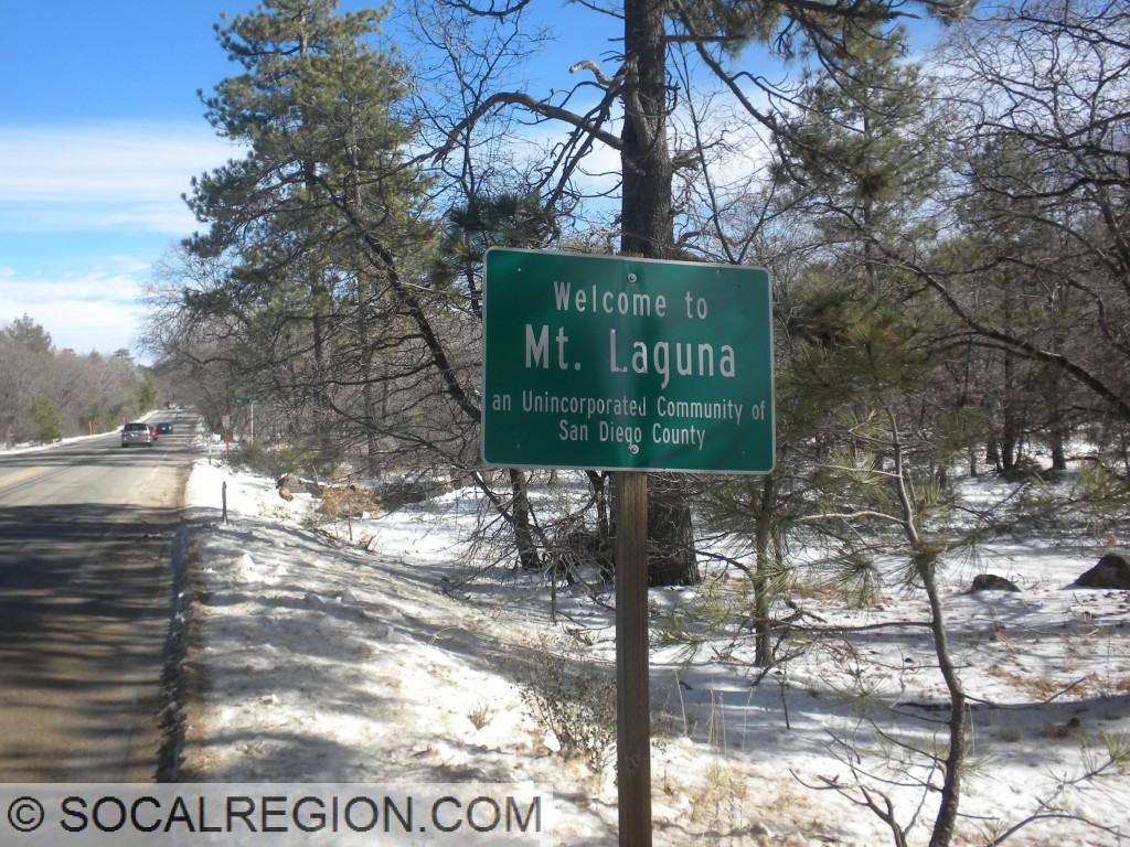 Mt Laguna, lots of snow here and close to 6000'.
