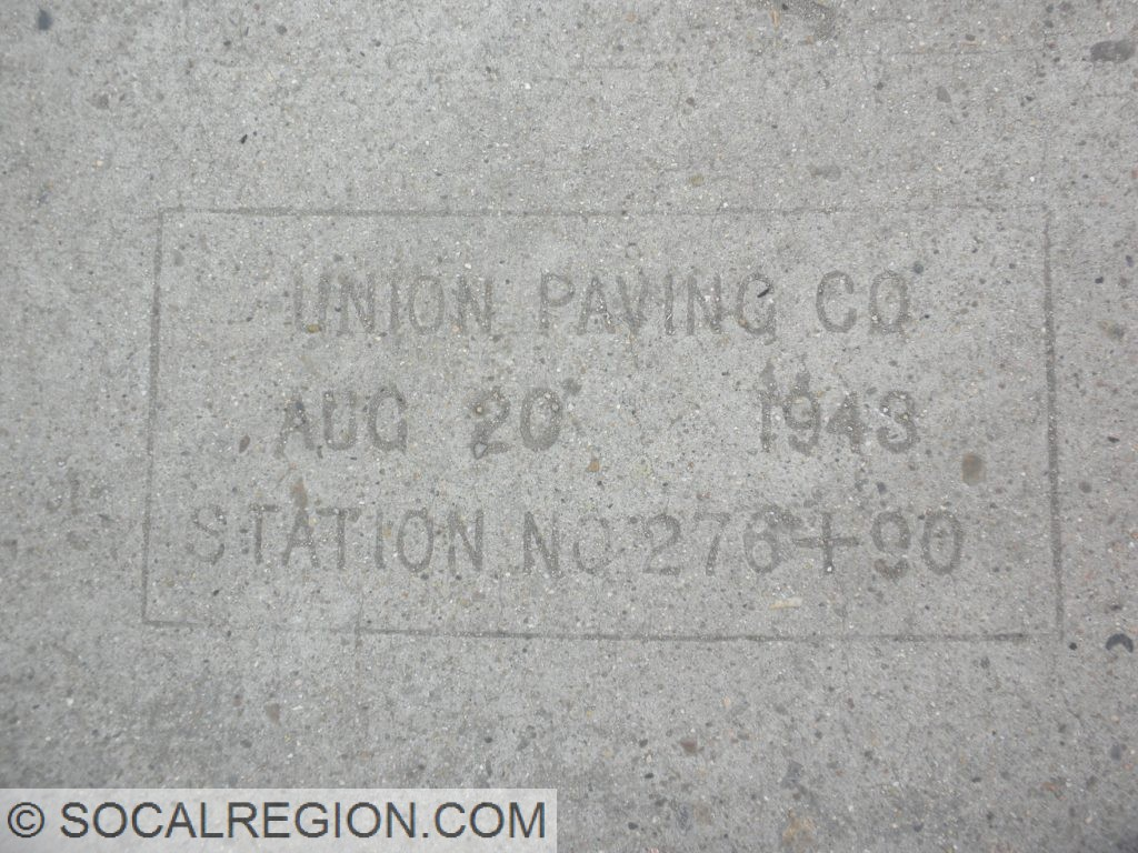 Date stamp from August 20, 1943 by Union Paving Company