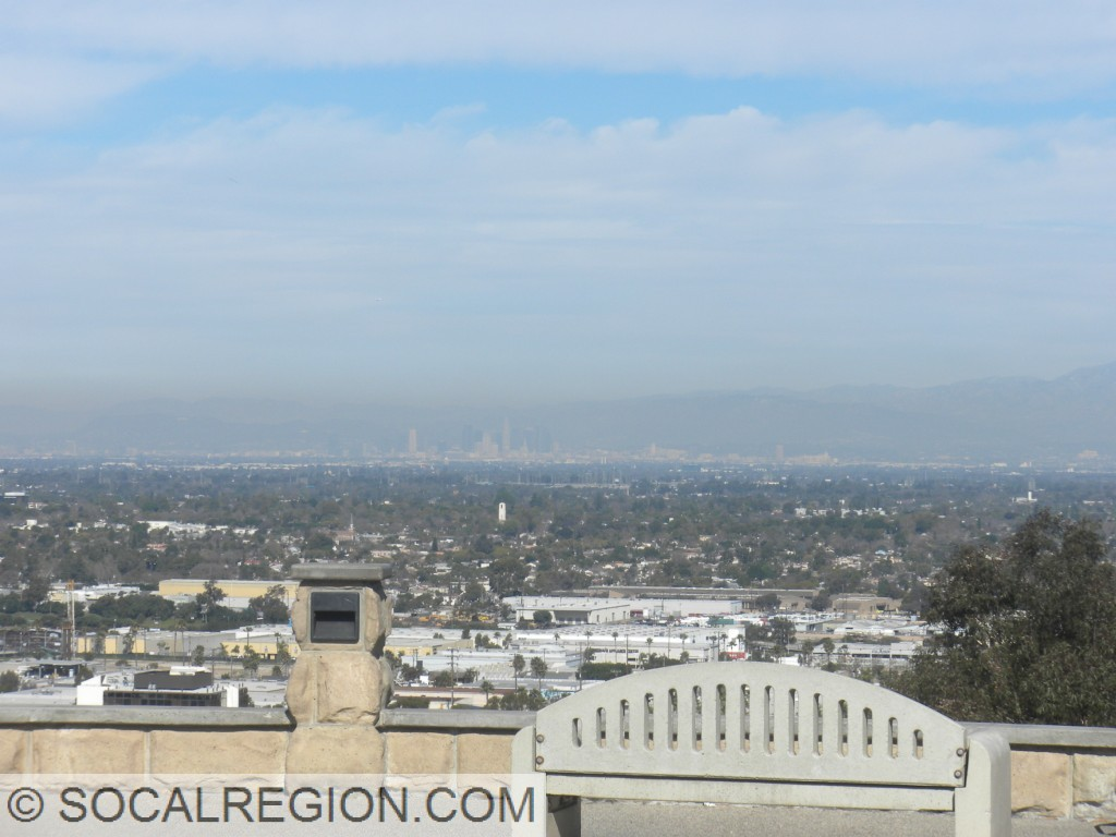 Downtown Los Angeles from Signal Hill near Long Beach