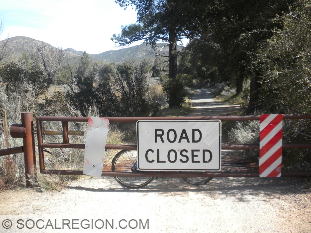First closure gate on Pine Creek Road.