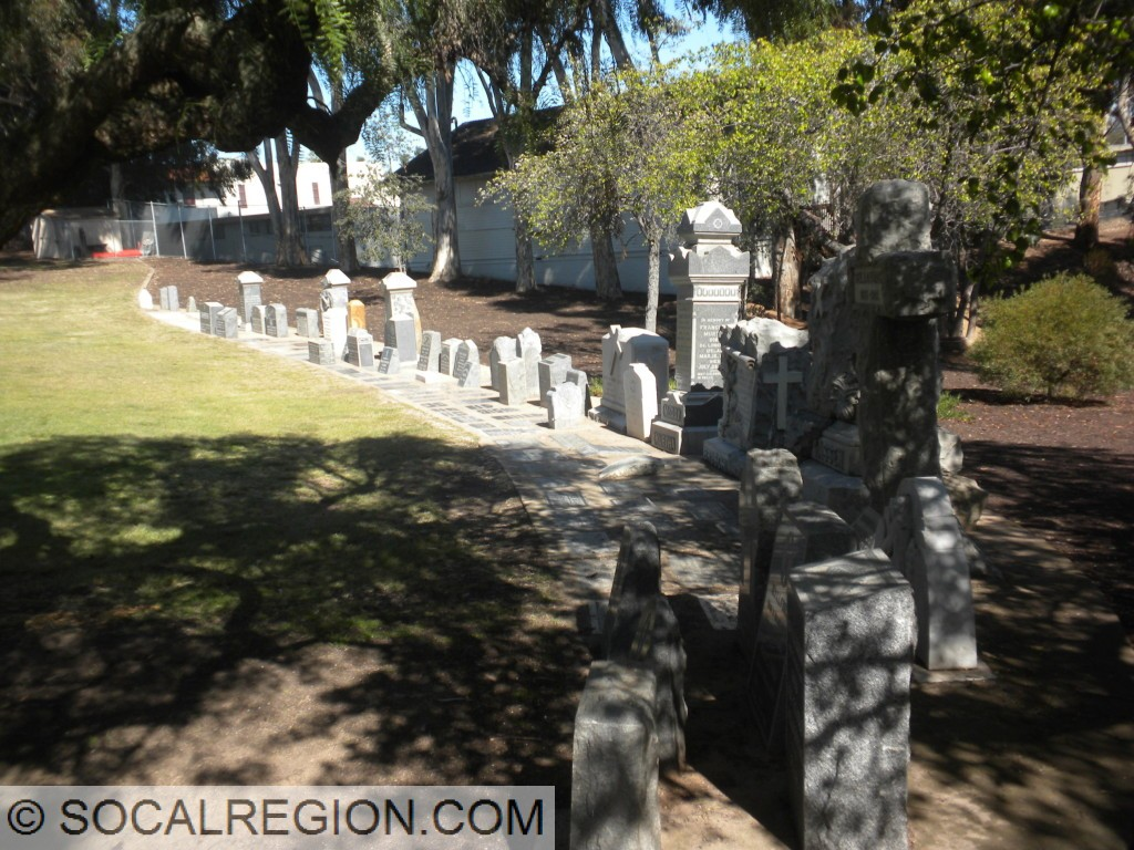 Pioneer Park in Mission Hills. It is a former cemetery with the tombstones now moved to the side.