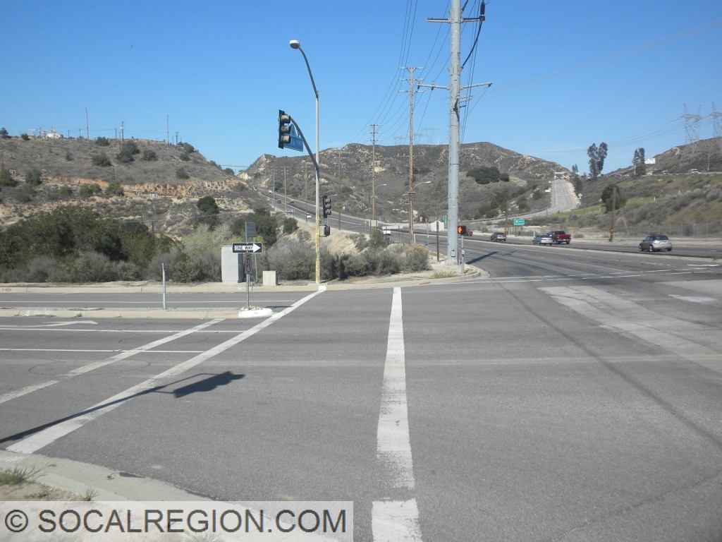 Looking north towards the Placerita Canyon Road intersection.