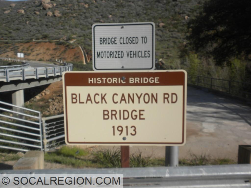 Historic bridge marker.