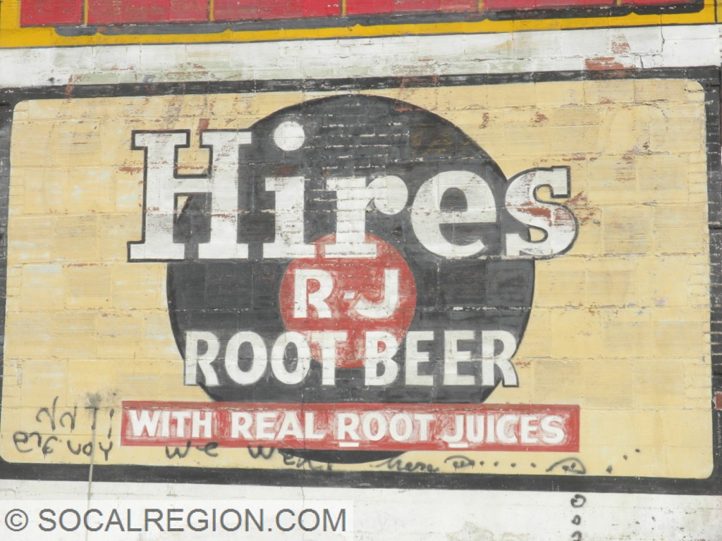 Closeup of the Hires Root Beer sign.