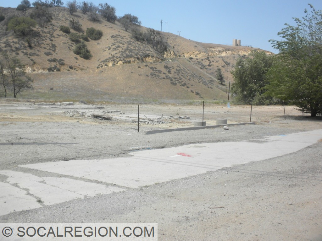 Section of Ridge Route paving within the site of the former Lebec Hotel/Gas Station.