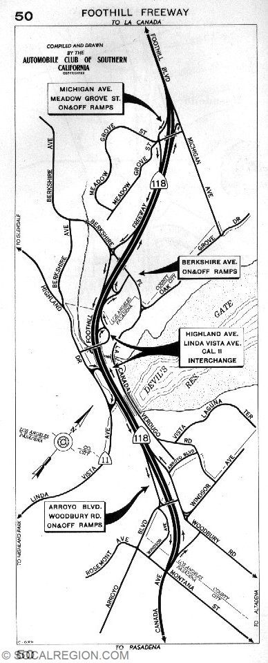 ACSC MAP of the freeway from 1957.