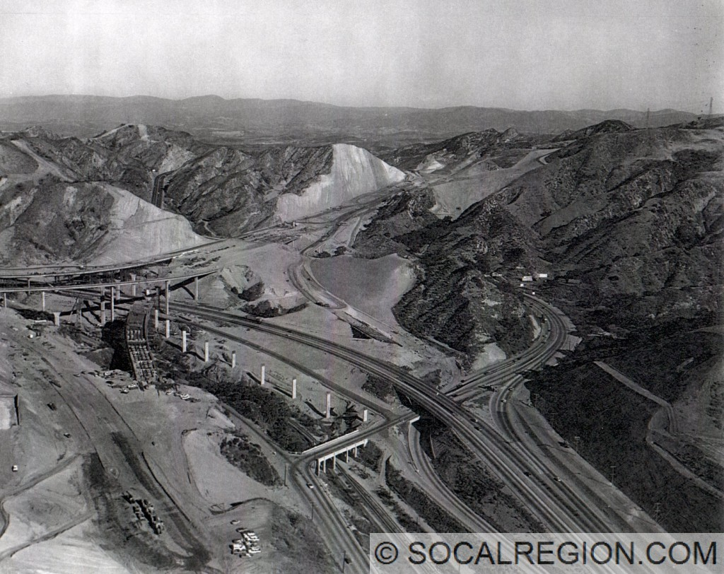 "1970 view of the I-5 / SR-14 Interchange construction. This ""build"" would partially collapse on February 9, 1971 while still incomplete."