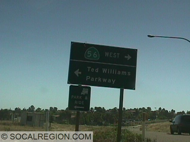 Signage at the 15 Freeway