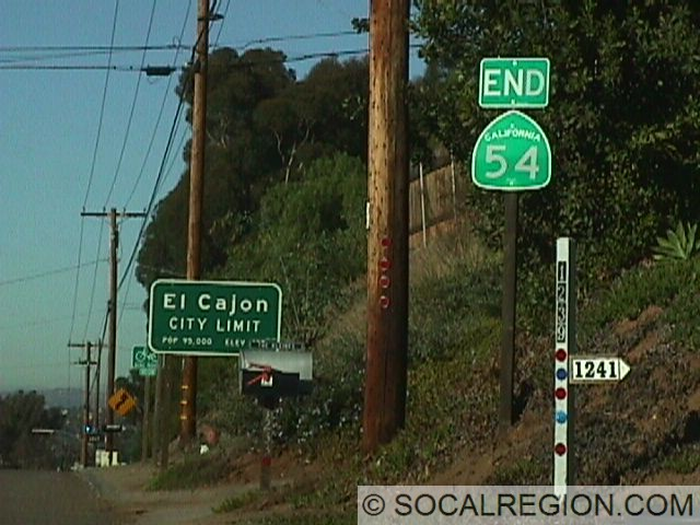 End signage at the southern El Cajon City Limits.