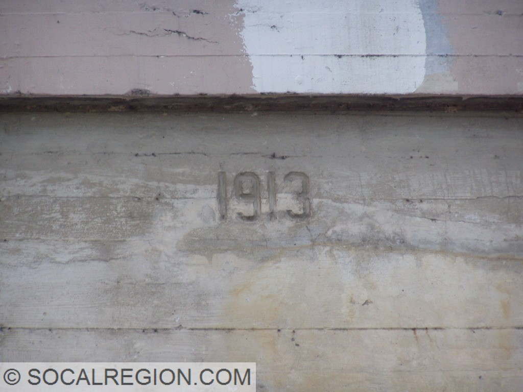 1913 date stamp on the Cucamonga Creek Bridge