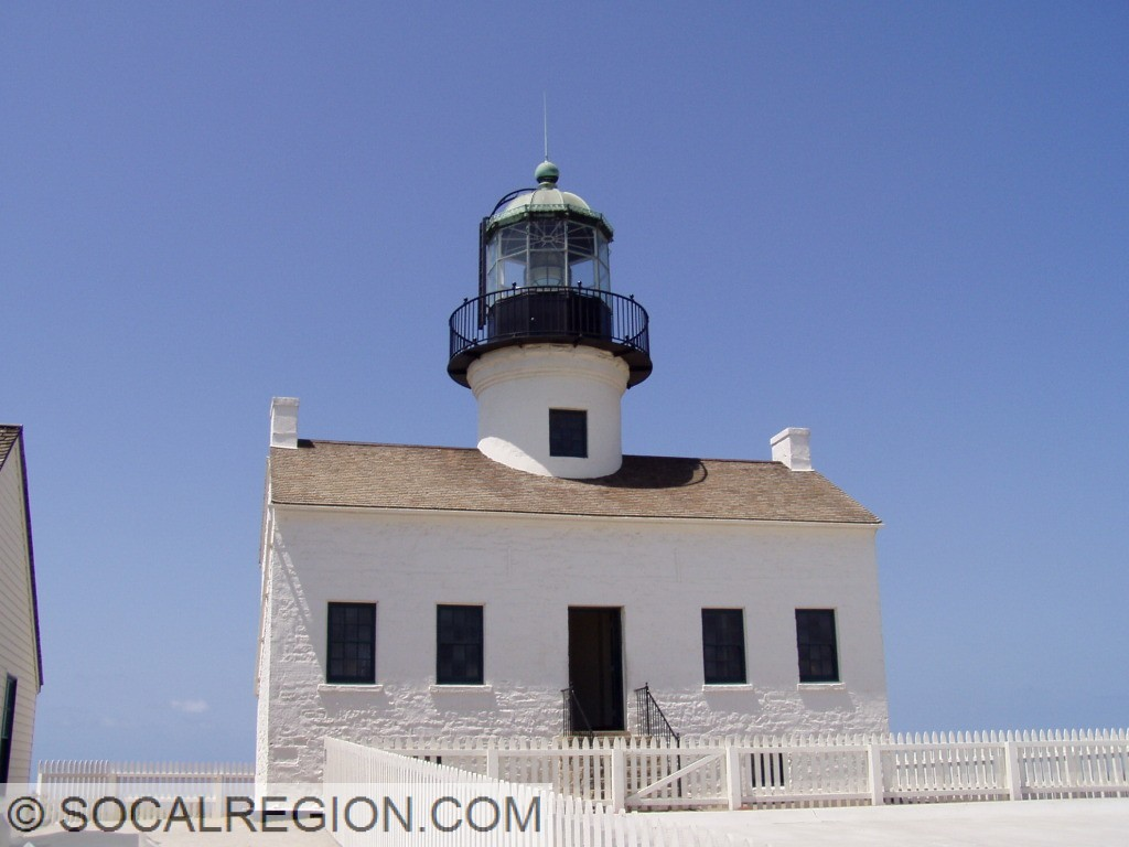 Old Point Loma Lighthouse in Cabrillo National Monument.