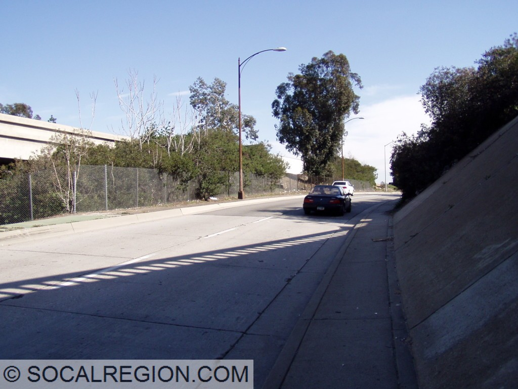 Southern end of the concrete. Bridge to the left is I-5.