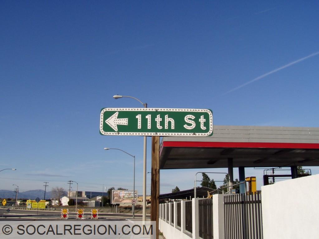 Former 11th Street signage on San Fernando Road.