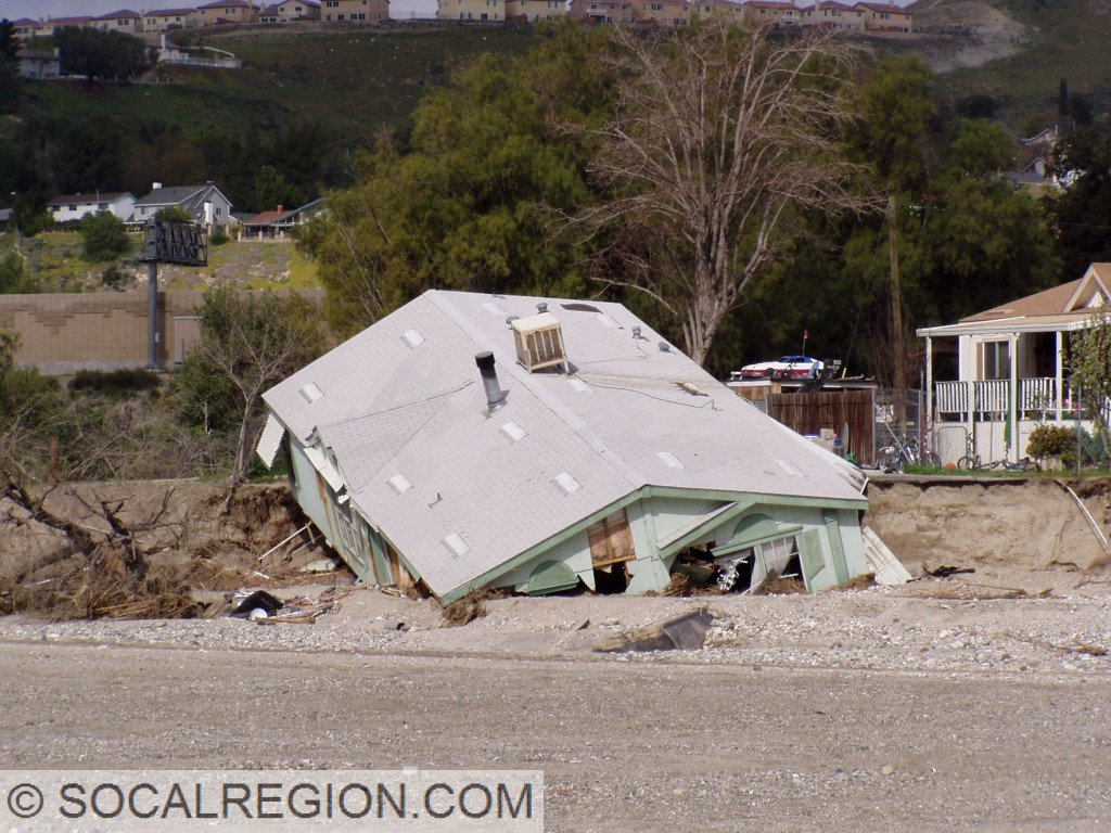 Flood damage from February 2005 near Sand Canyon Road.