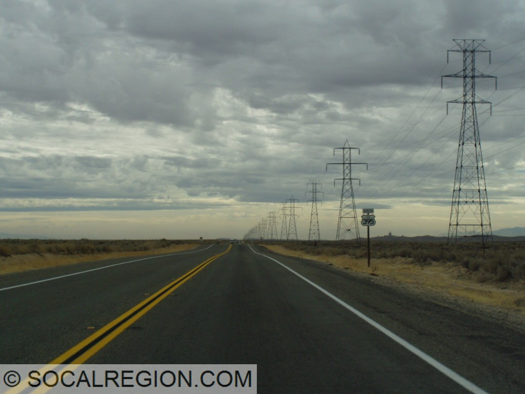 Typical section of US 395 north of Adelanto, looking south.