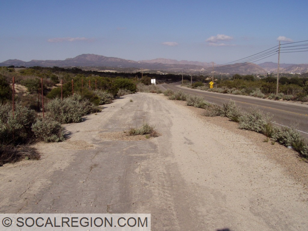 Old alignment near Tecate Divide.
