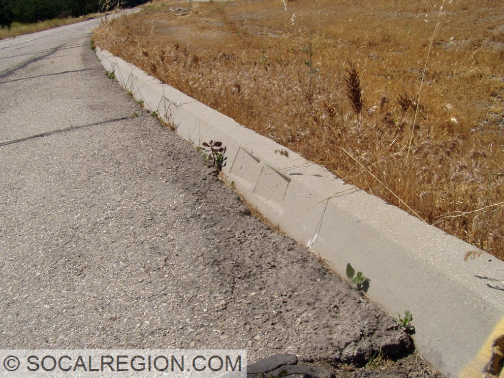 Detail of the 1948 curbing.