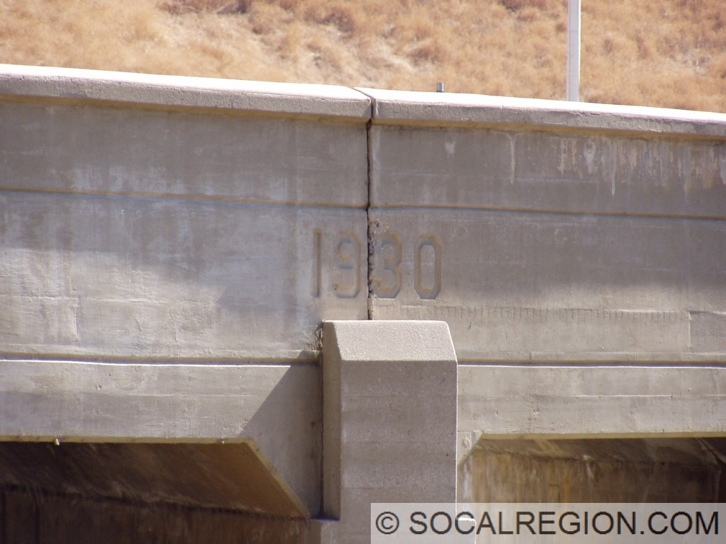 1930 date stamp on the Palomas Creek Bridge.