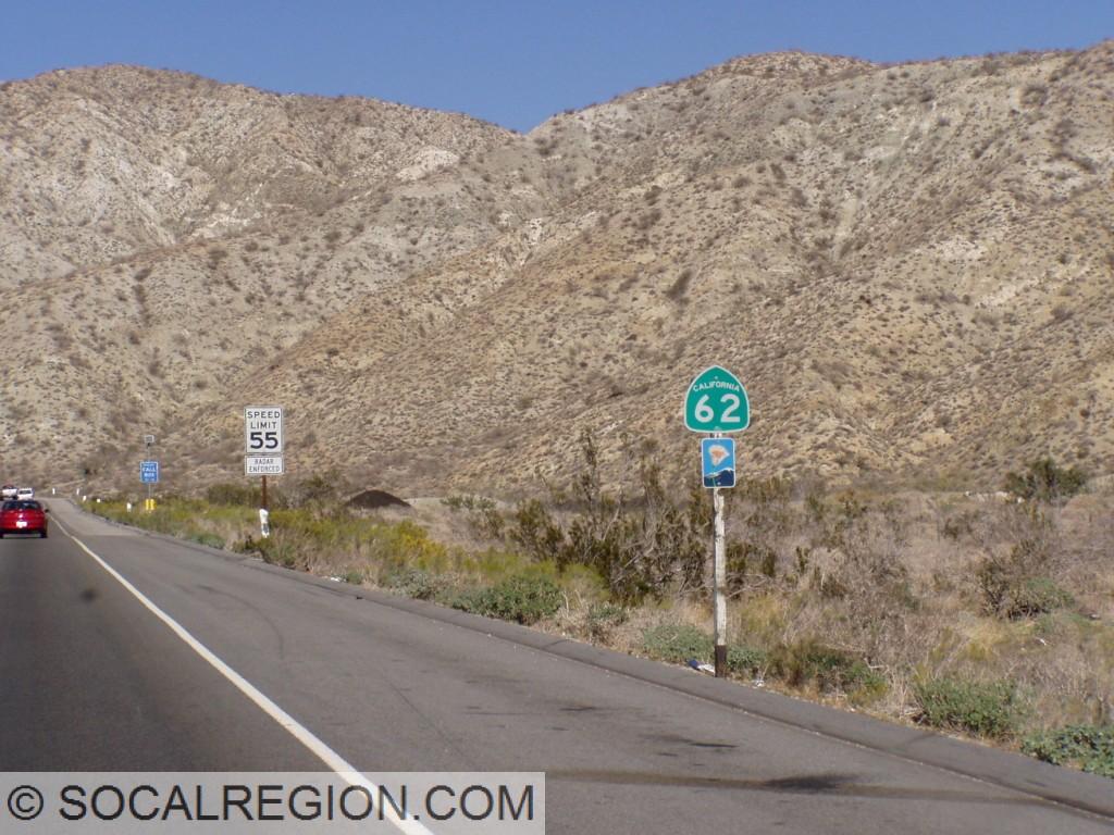 Entering Little Morongo Canyon.