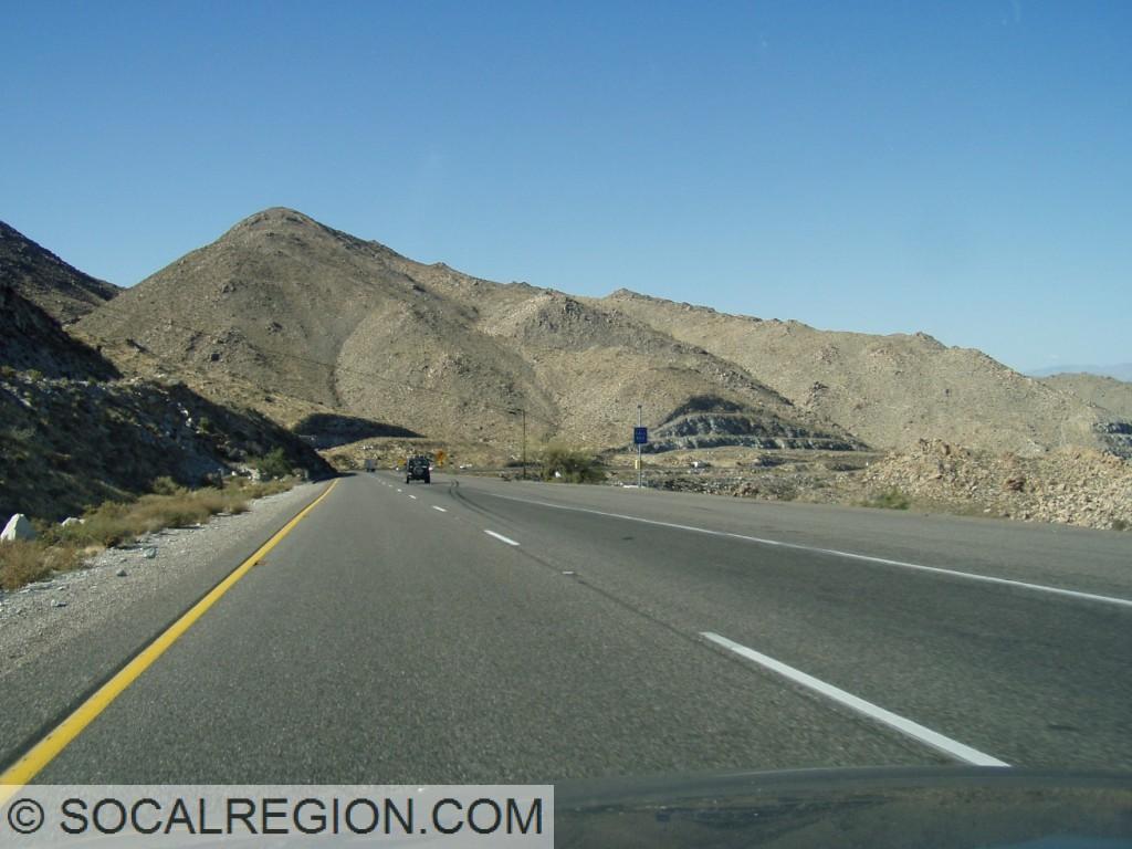 Descending Mountain Springs Grade along the San Diego/Imperial County line.
