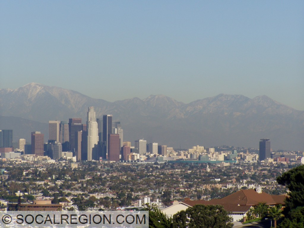 Downtown Los Angeles from the Baldwin Hills