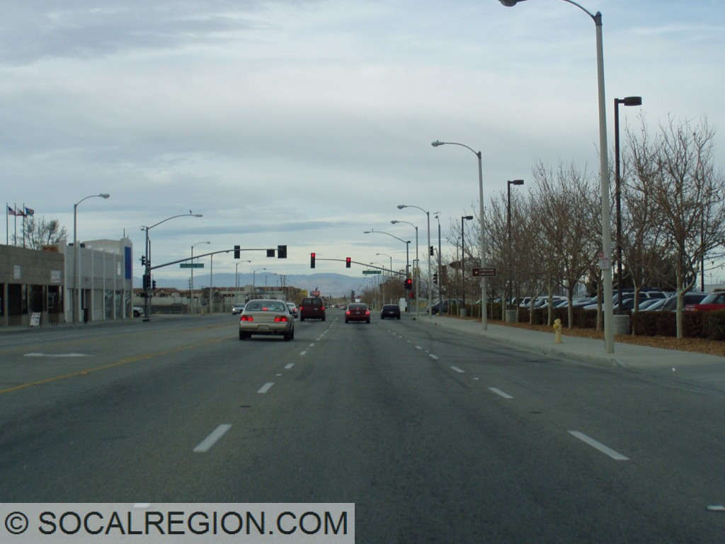 Northbound near Lancaster Blvd.