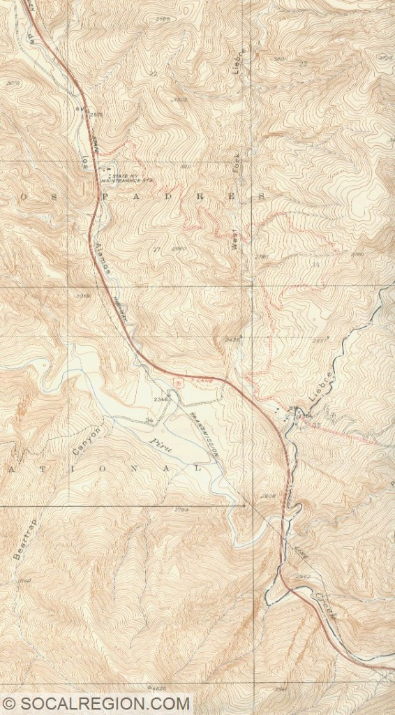 Map from the late 1930's showing the area that is now Pyramid Lake.