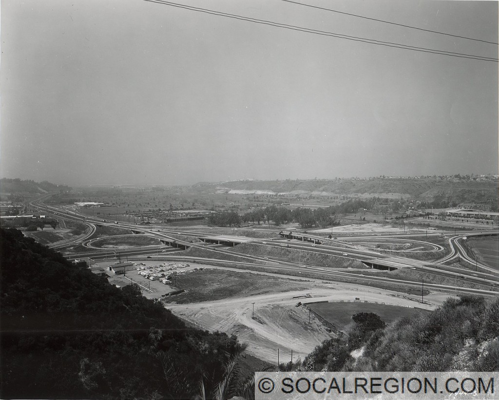 1960 view of the 163 / 8 interchange. At the time, it would have been US 395 and US 80.