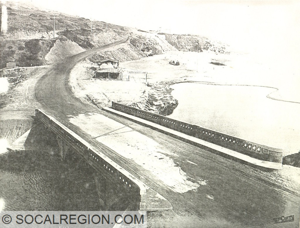 Aliso Creek Bridge in the Laguna Beach area around 1930.
