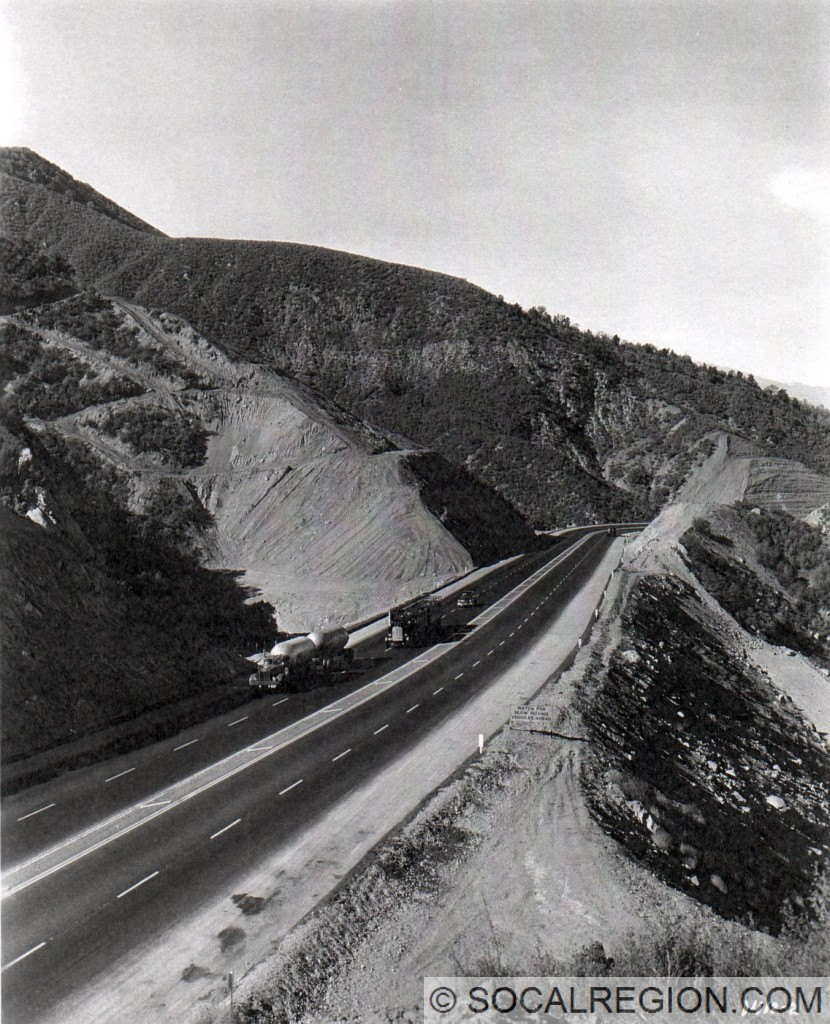 Looking down Three Mile Grade from Whitaker Summit on May 19, 1949.